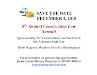 5th Annual Construction Law Summit